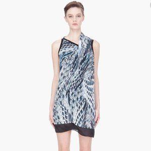 Helmut Lang Pheasant Print Voile Dress